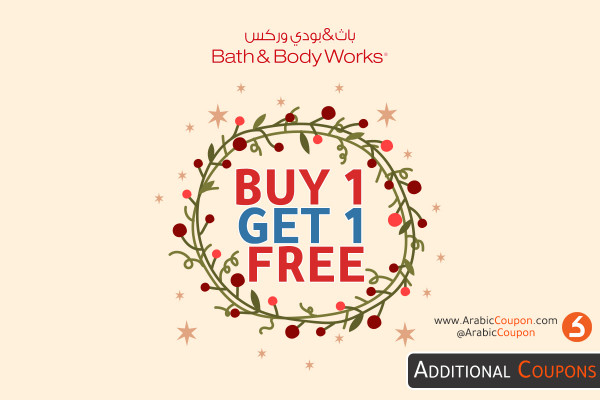 Buy 1 Get 1 FREE from Bath and Body Works Store - December discounts 2020