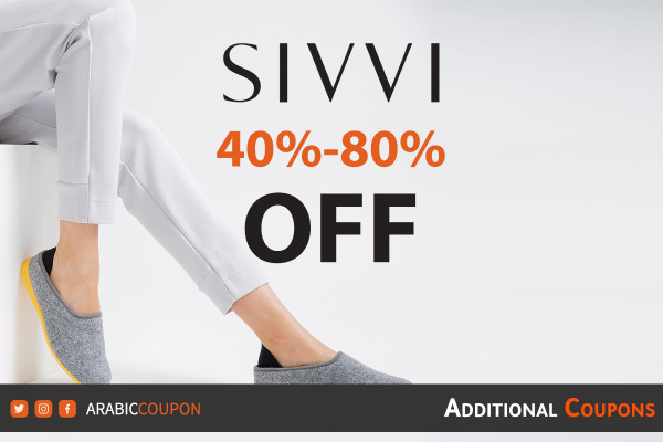 SIVVI SALE 40%-80% on special brands with additional discount coupon code