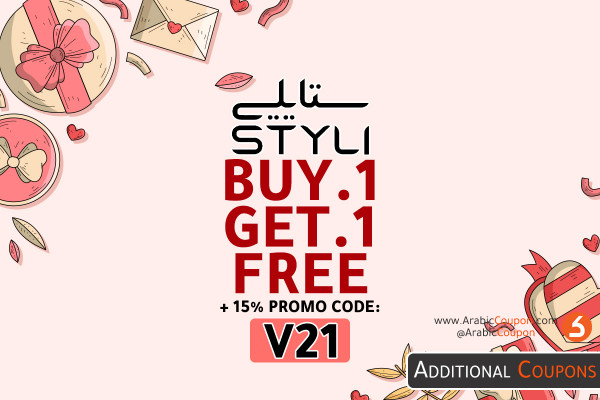 BUY 1 GET 1 FREE from STYLI website on most of the products with 15% Styli promo code