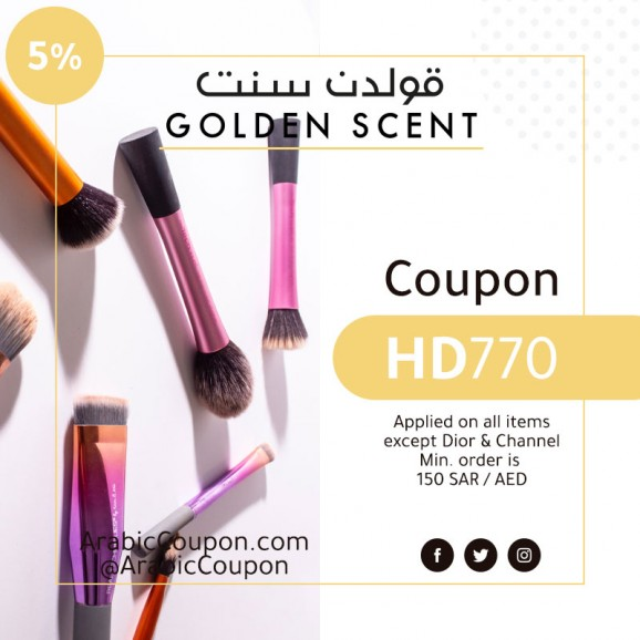 5% GoldenScent Coupon active for 2020