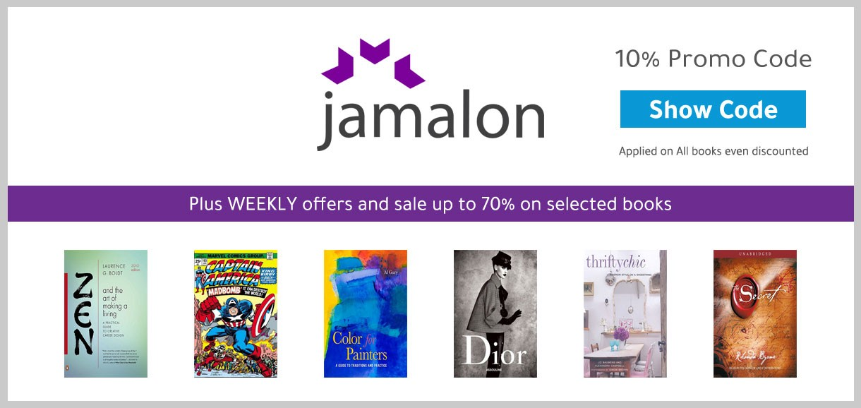 10% Coupon / Promo Code From Jamalon on all books